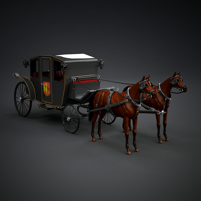 3d model horse car carriage for Car carriage