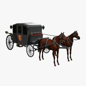 3d model horse car carriage