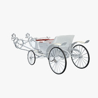 3d horse car carriage