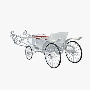 3d horse car carriage