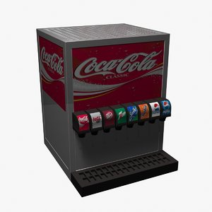 3d soda dispenser model