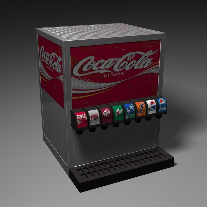 3d soda dispenser model