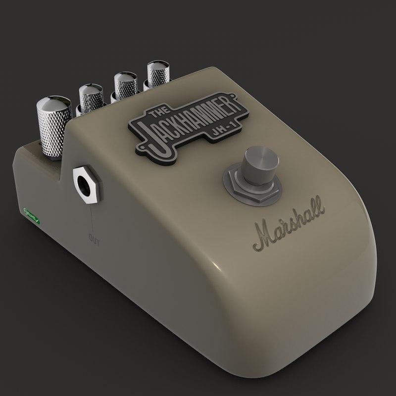 3d jh-1 marshall jackhammer guitar model