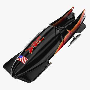 bobsleigh sled 3d model