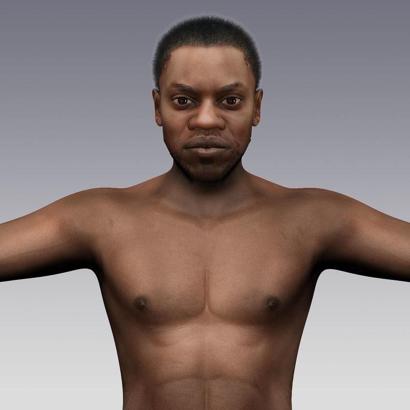 3d tyrone - black male model