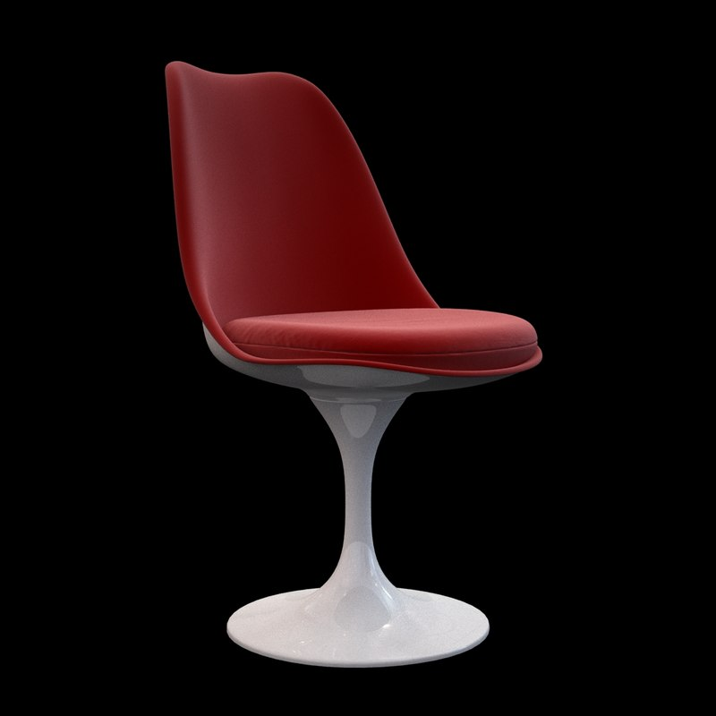 3d tulip chair knoll model