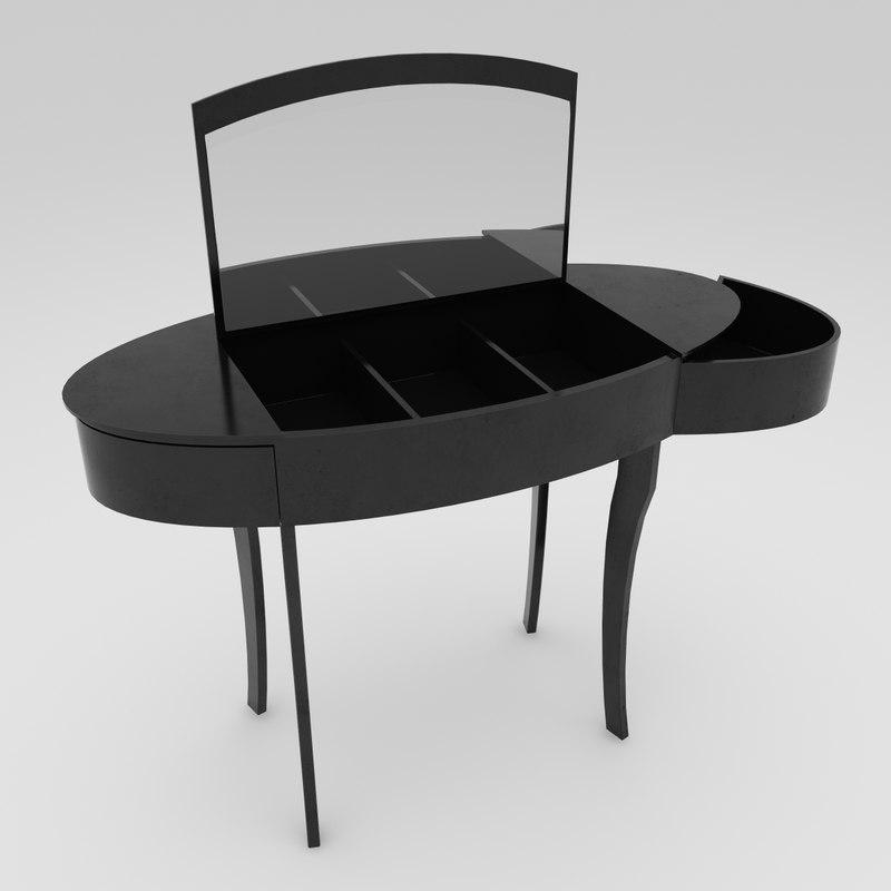 dressing table diva 3d model