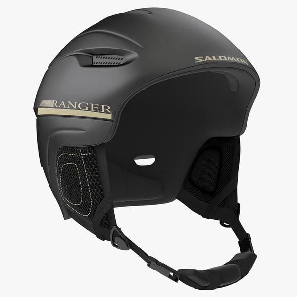 3d model winter sports helmet