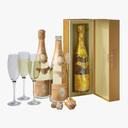 champagne bottle 3D models