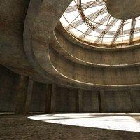 interior arena - studio 3d max