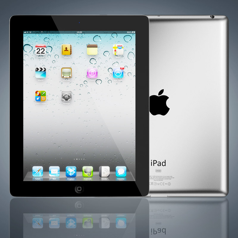 3d realistic apple ipad