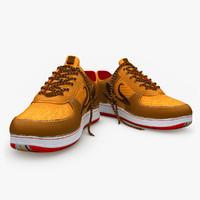 brown sport shoe 3ds
