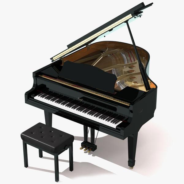 3d model piano stool