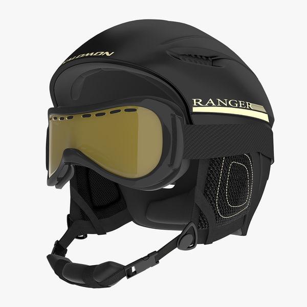 3d model winter sports helmet ski