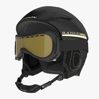 3d model winter sports helmet ski