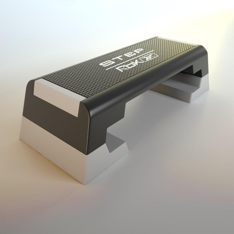 reebok step - rbk 3d model