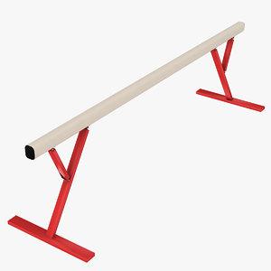 gymnastics balance beam dxf