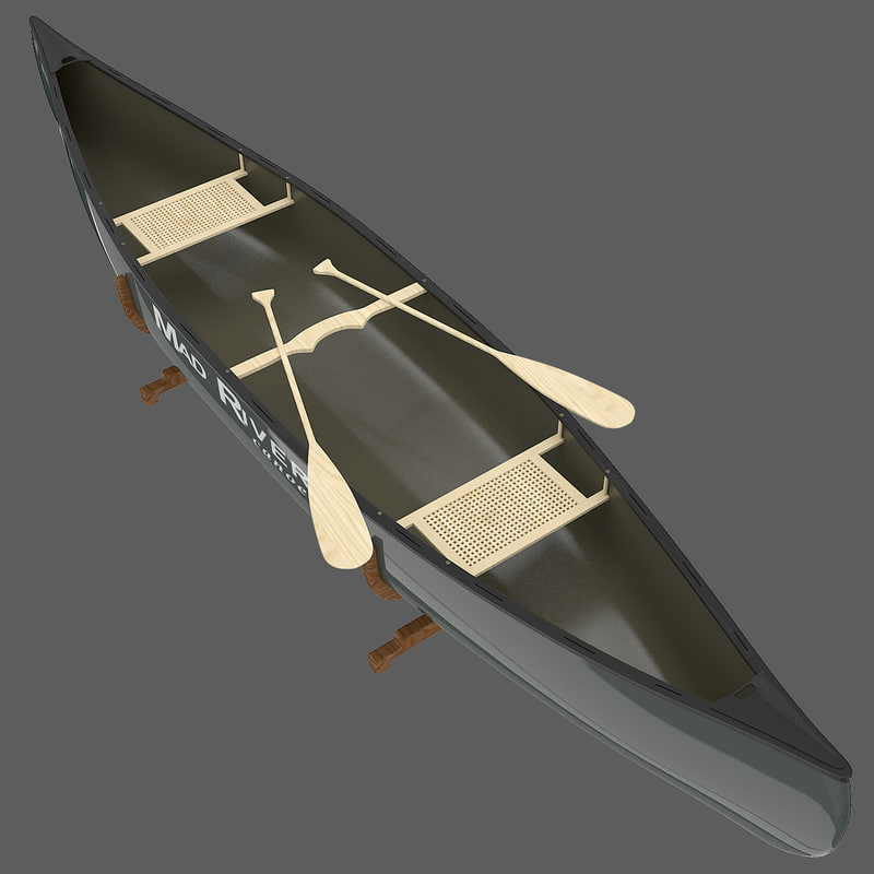 3d model canoe