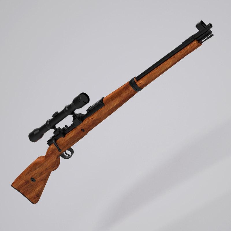 3d der karabiner sniper - model