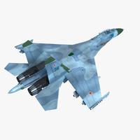 sukhoi su-27 sk flanker 3d model