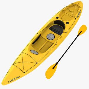 3ds fishing kayak