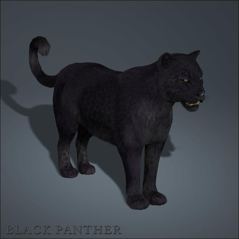 Black Panther 3d model