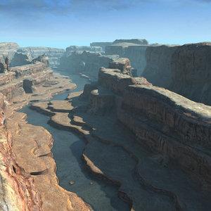 scene landscape terrains 3d model