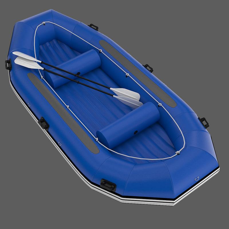 rafting boat - 2 3d model