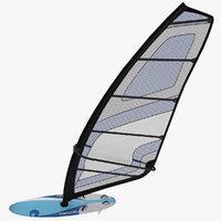 windsurf mistral 3d model