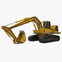 3d crawler excavator