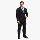 businessman 3D models