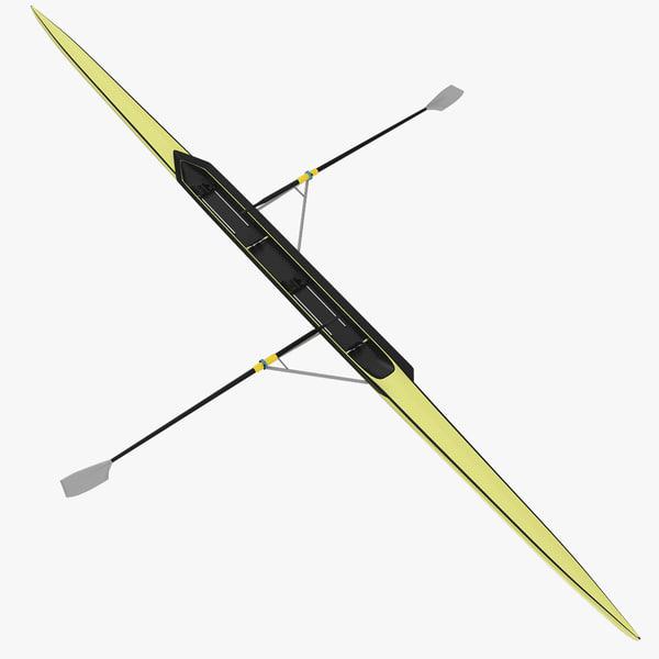 pair oars 3d model