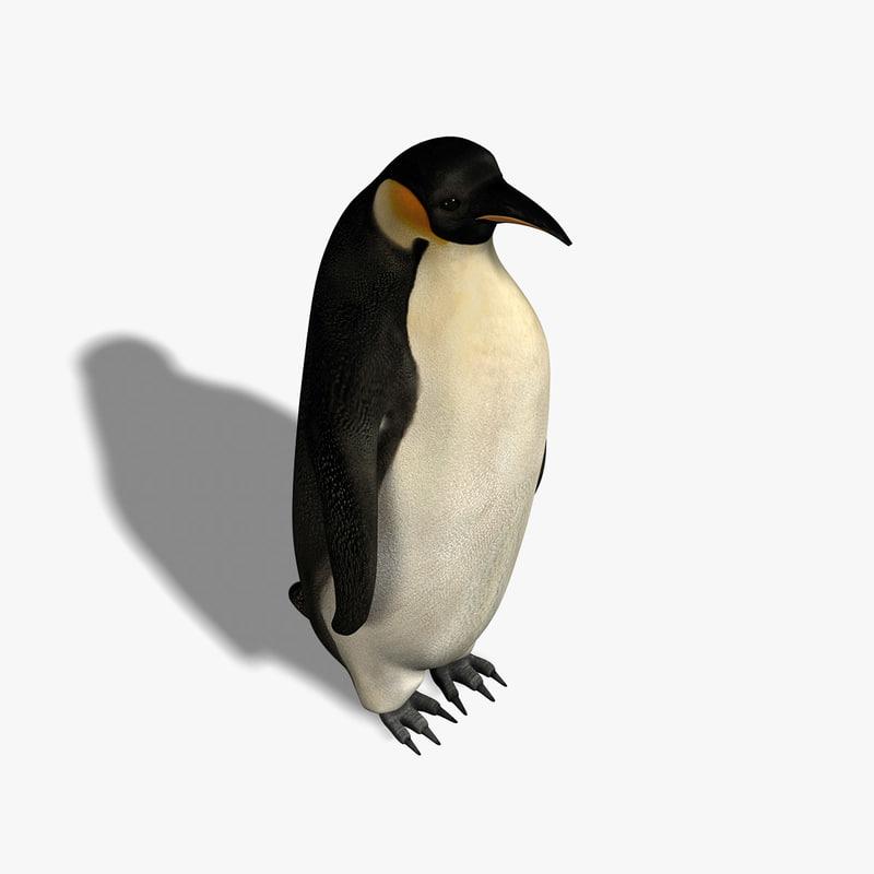 penguin emperor 3d fbx