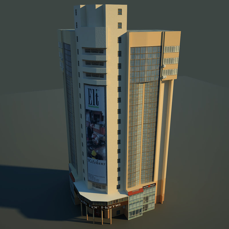 low-poly building