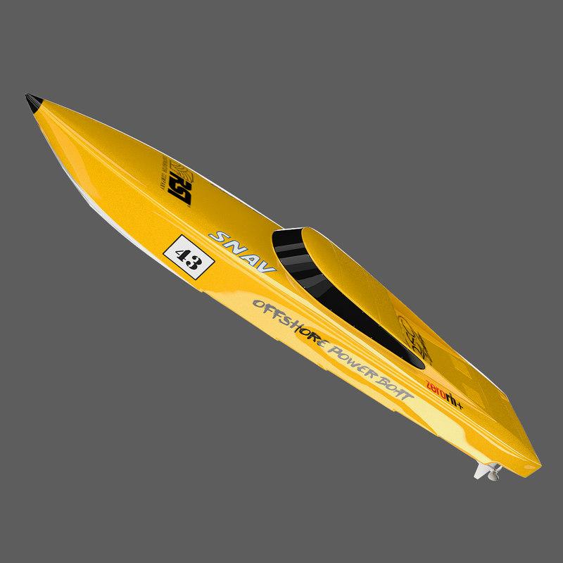 offshore powerboat 3d model