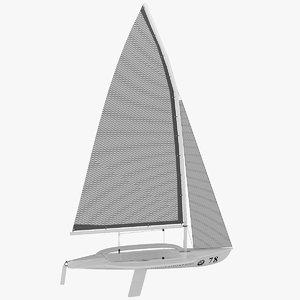 windsurf - 49er boat 3d model
