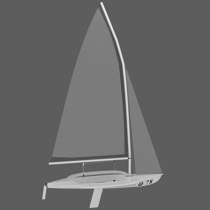 windsurf - 49er boat 3d model