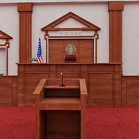 courtroom - 3d model