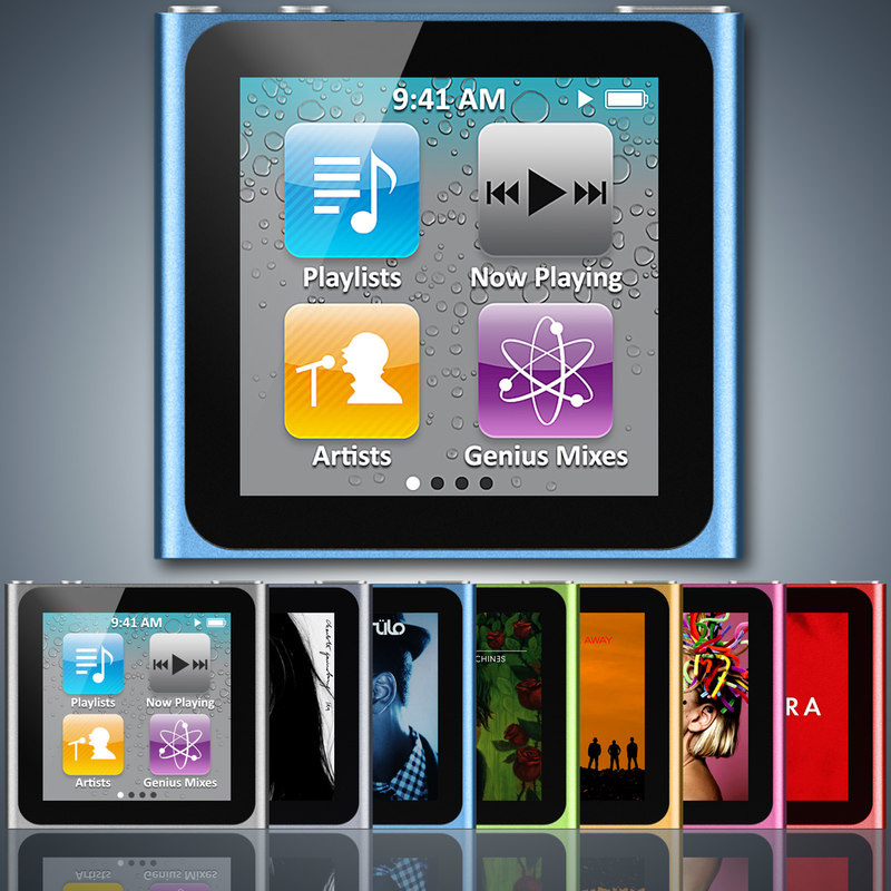 apple ipod nano 6g 3d model