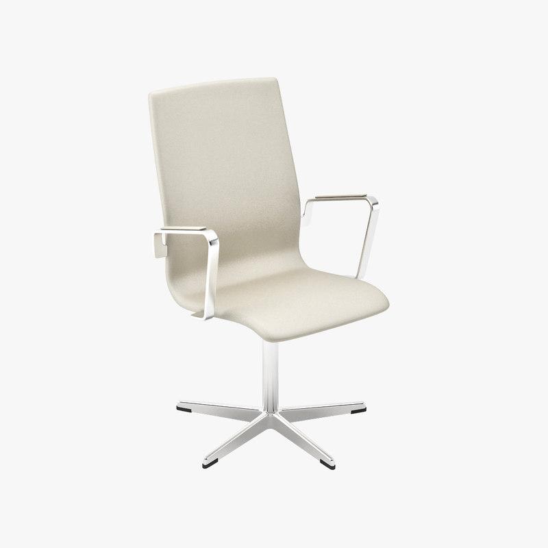 3dsmax arne jacobsen oxford chairs