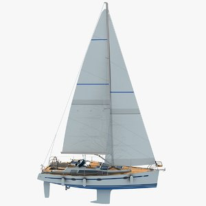 sunbeam 34 sailboat sails 3d model