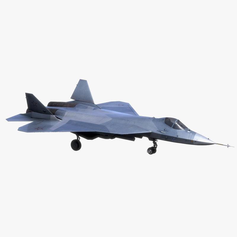 sukhoi pak fa t-50 3d model
