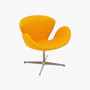 arne jacobsen swan chair 3d max