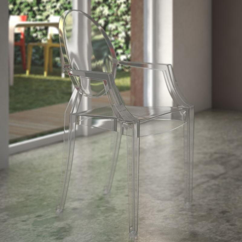 - kartell louis ghost armchair 3d 3ds
