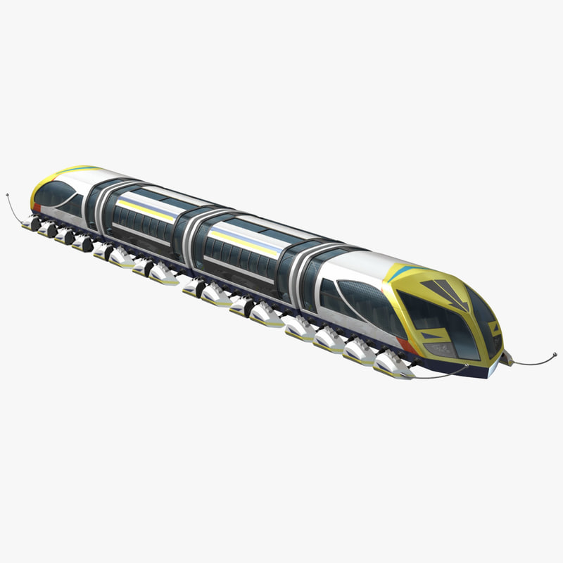 3d model futuristic train
