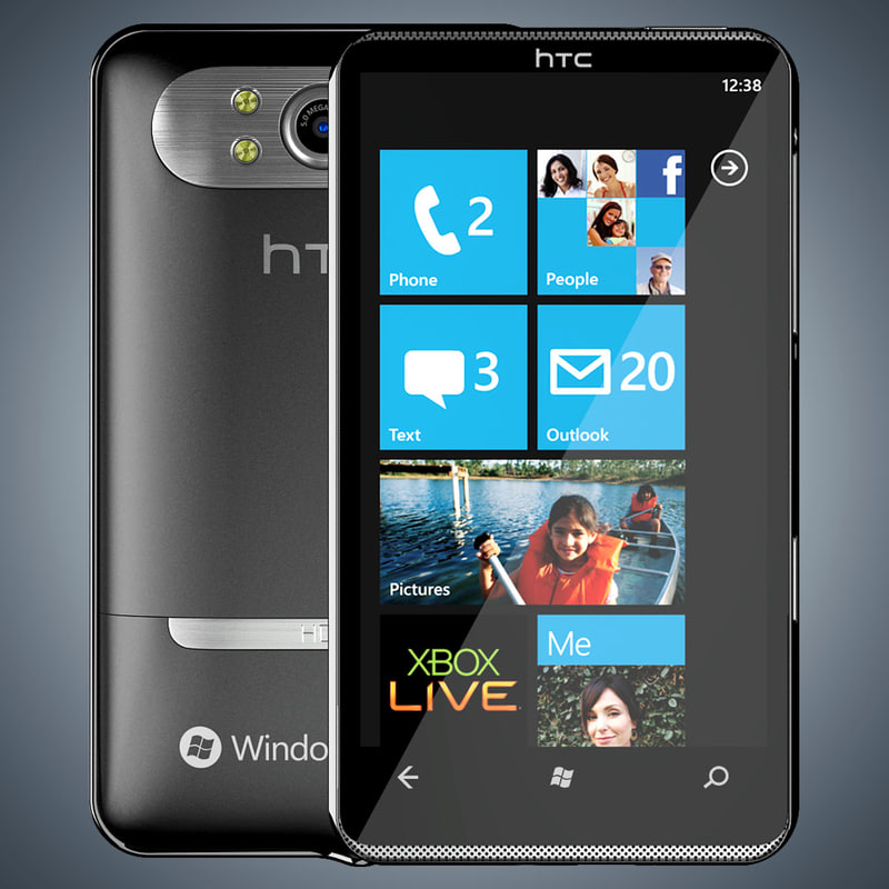 3d model of htc hd7