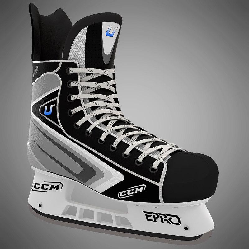 3ds max ice hockey skates