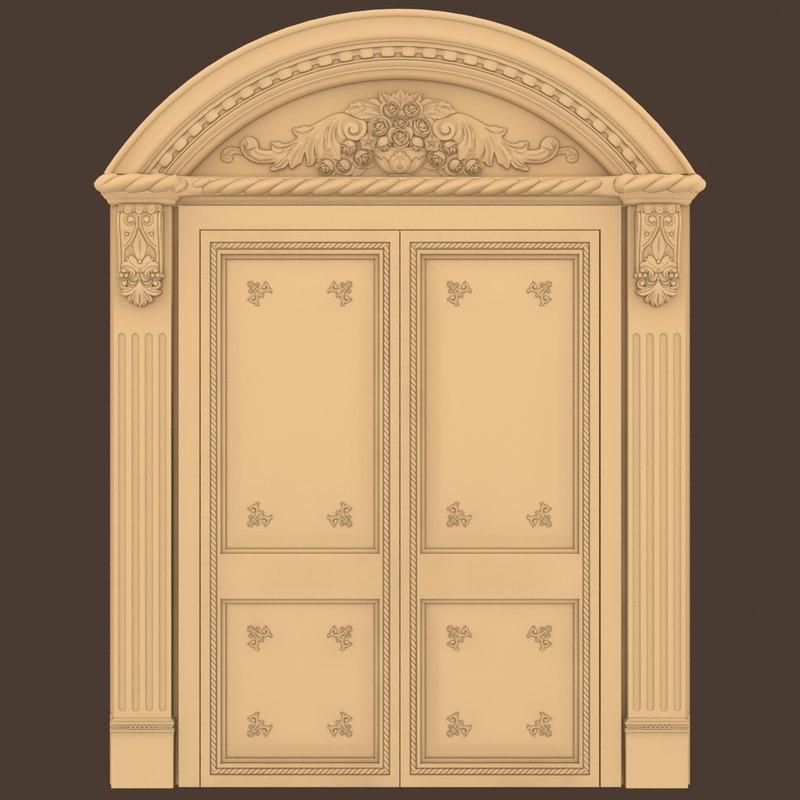 entrance door knocker 3d max