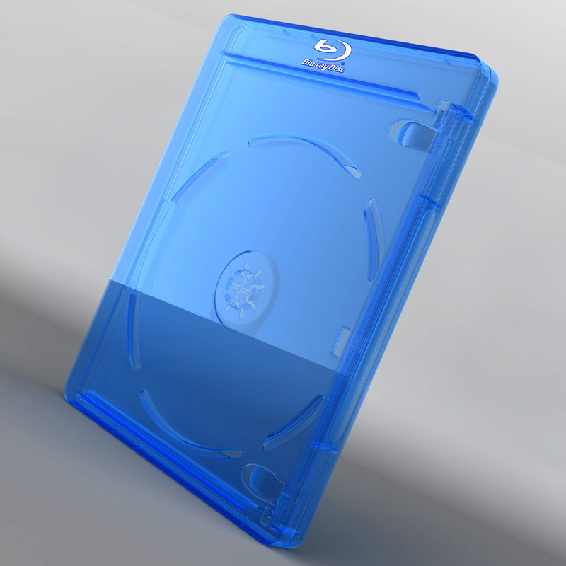 3d blu-ray case rigged model