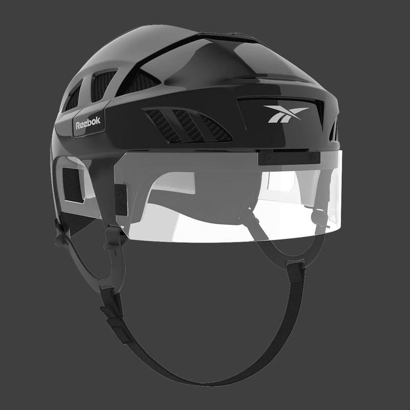 3d ice hockey helmet model